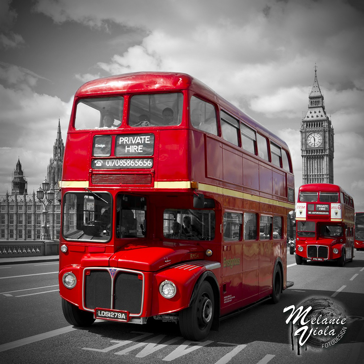 LINK - OhMyPrints Onlineshop - LONDON Rote Busse & Westminster Bridge