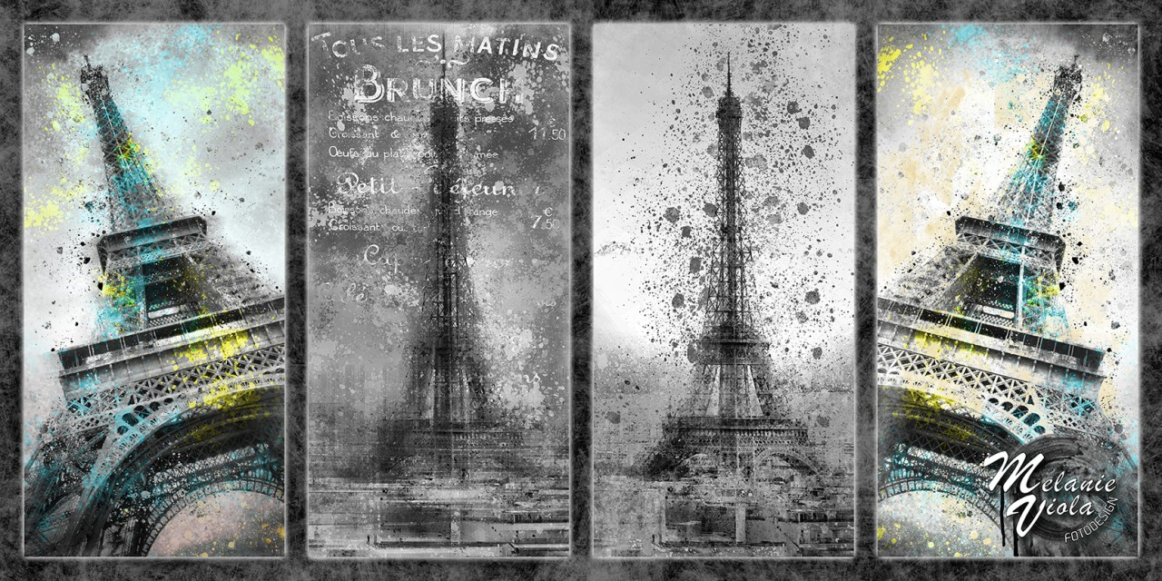 Digital-Art PARIS Eiffeltower Collage II