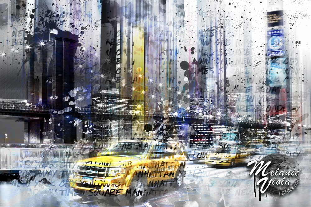 """City-Art NYC Collage"" im Onlinehop von OhMyPrints"