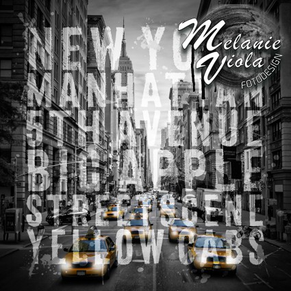 NYC 5th Avenue Traffic Typografie II | Link zum OhMyPrints Onlineshop