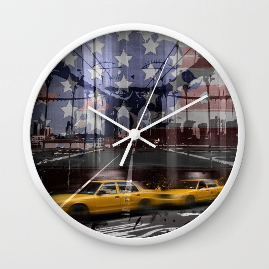 SOCIETY6.COM Wanduhr / Wall Clock
