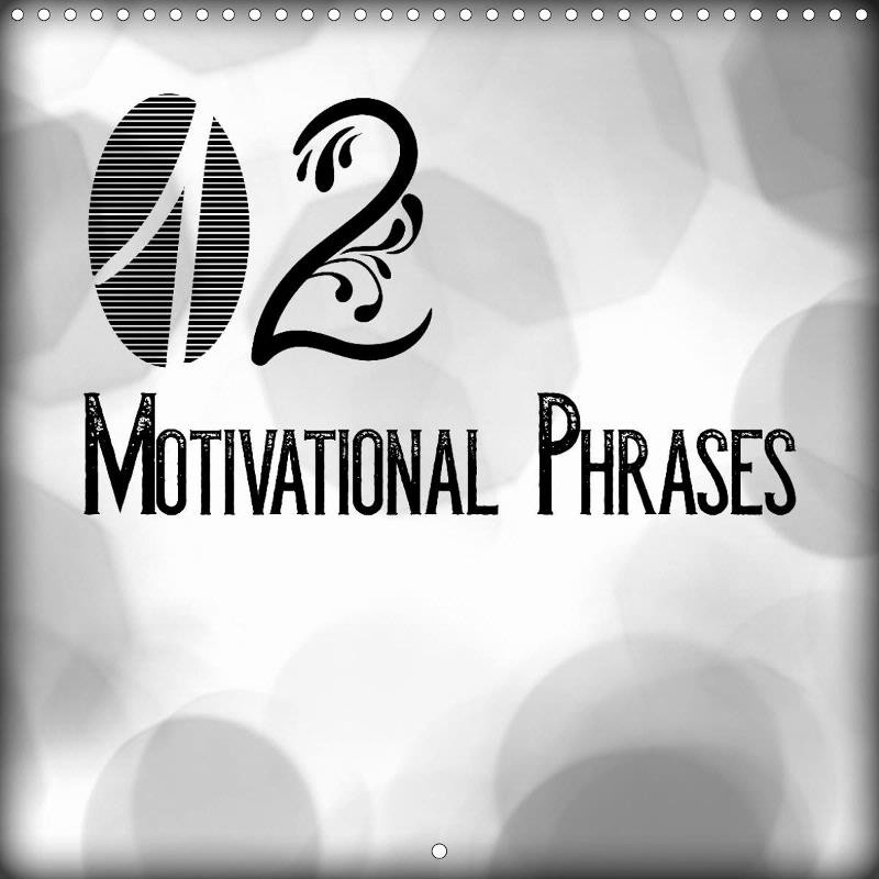 "CALENDAR ""12 MOTIVATIONAL PHRASES"""