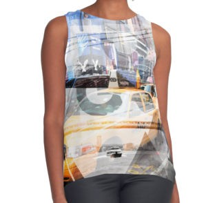 "LINK - REDBUBBLE Kontrast Top ""NEW YORK CITY Geometric Mix No 9"""