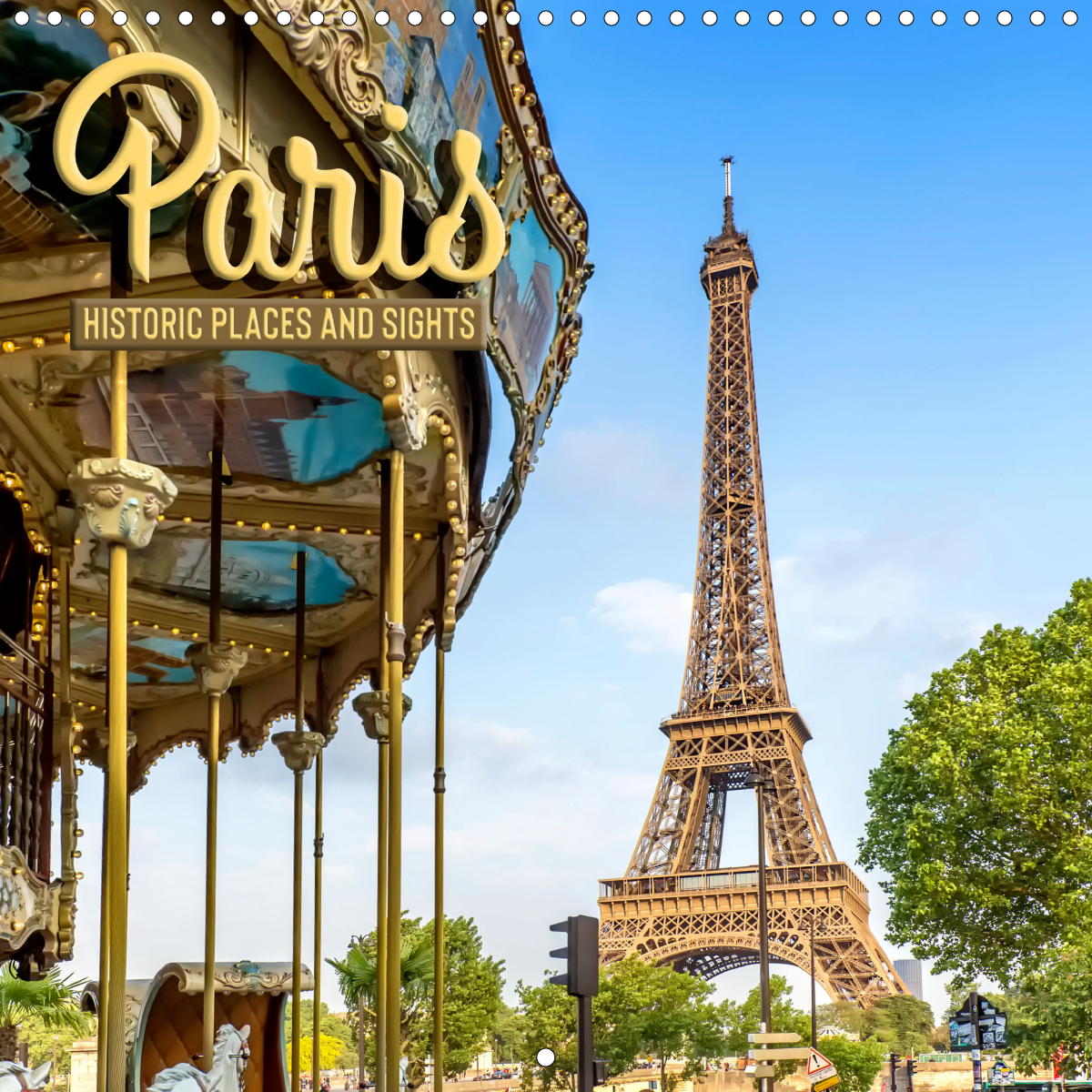 Calendar front - PARIS Historic places and sights