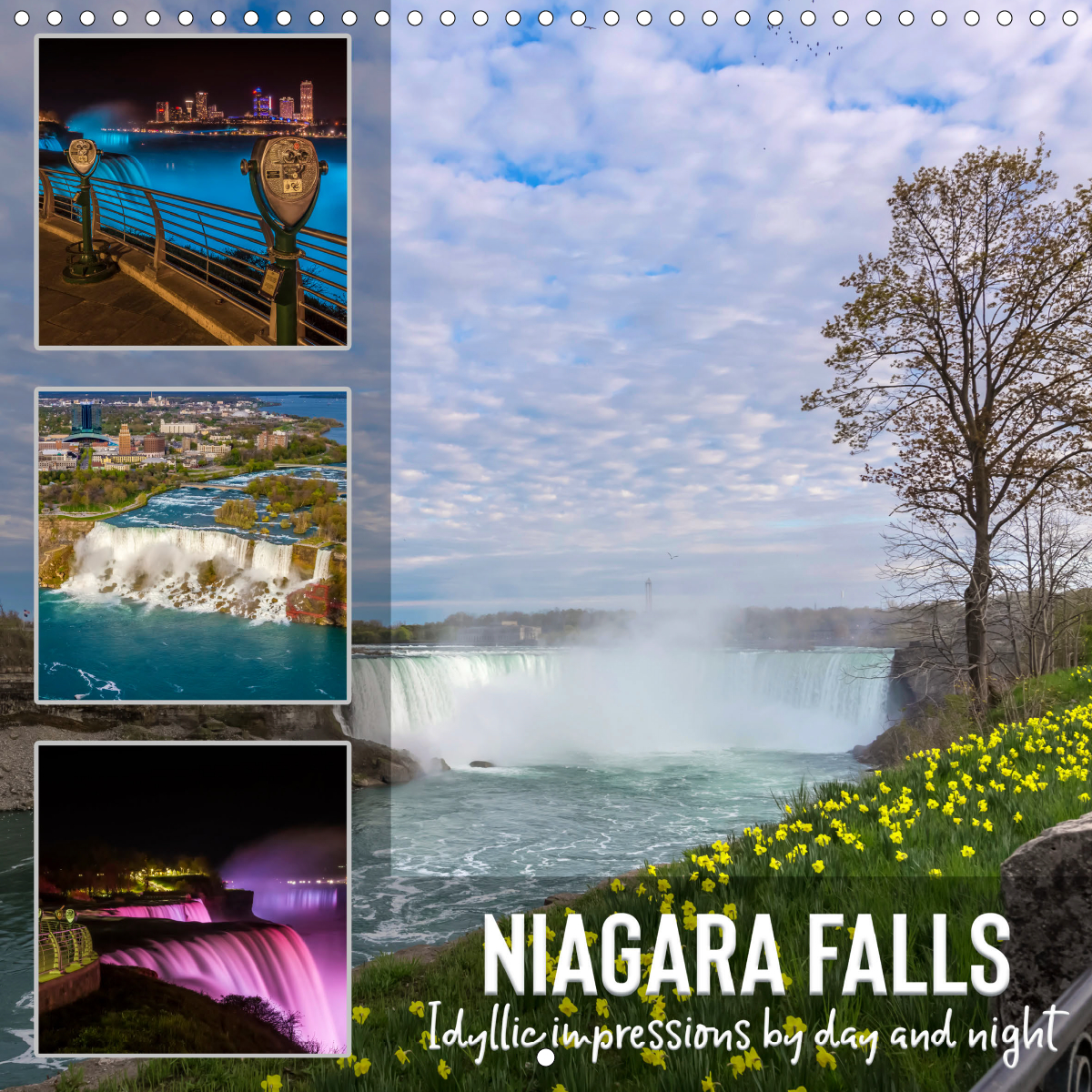 Calendar front - NIAGARA FALLS Idyllic impressions by day and night