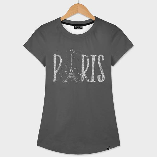 "Womens All Over T-Shirt ""PARIS Typography 