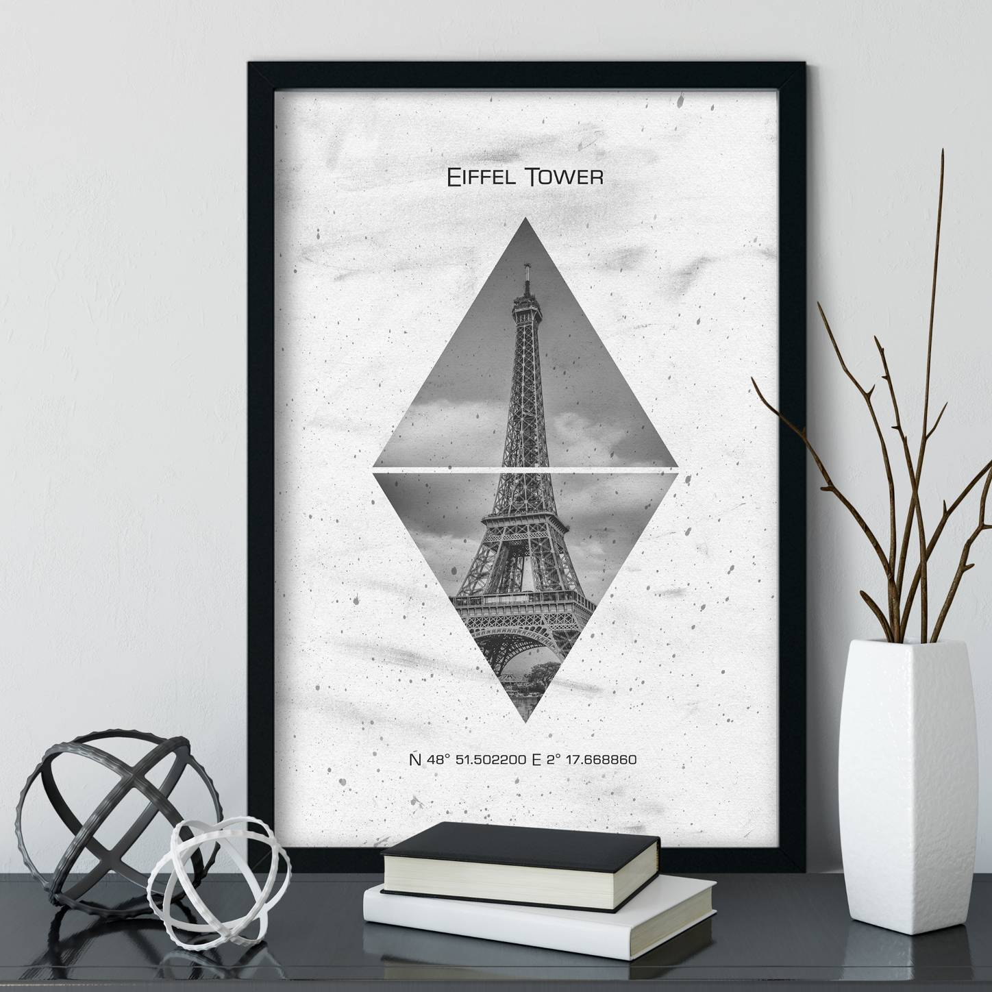"""Koordinaten PARIS Eiffelturm"" - LINK OhMyPrints Onlineshop"
