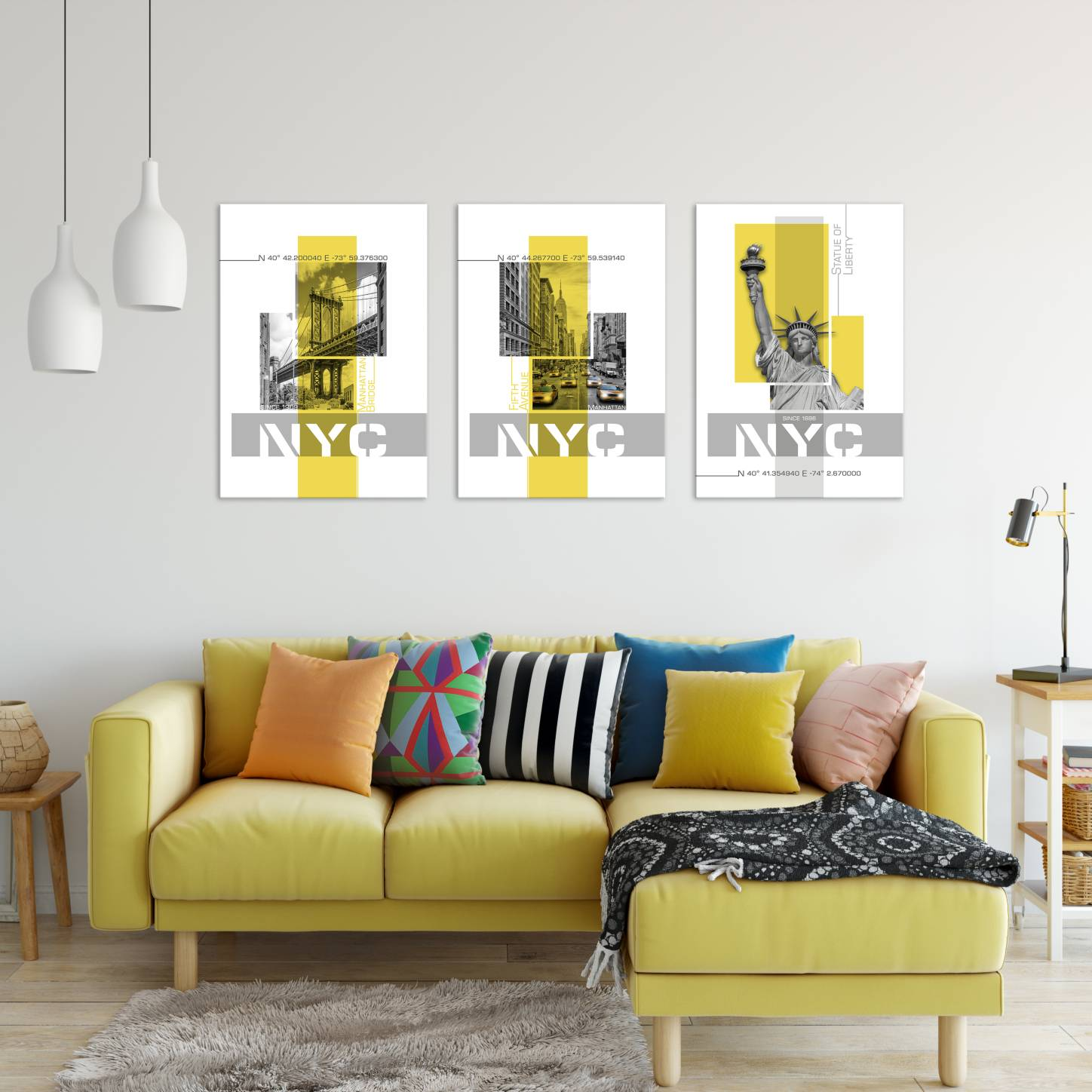 """Yellow Poster Art"" Collection - LINK to Displate"