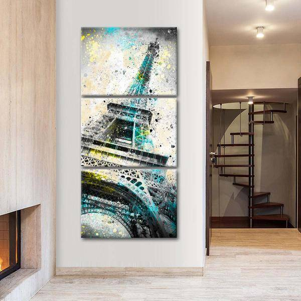 """Eiffel Tower IV"" Multi Panel Canvas Wall Art - LINK ElephantStock"