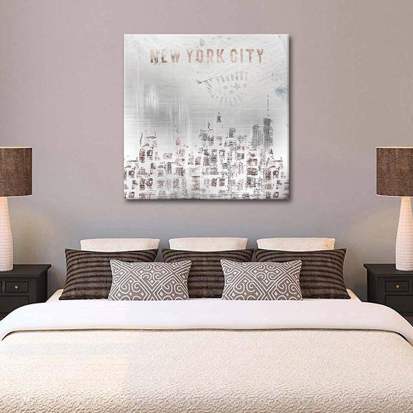"""Modern NYC Skylines"" Canvas Wall Art - LINK ElephantStock"