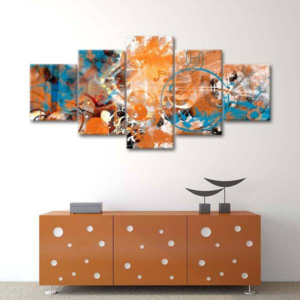 """Modern View Beyond Control"" Multi Panel Canvas Wall Art - LINK ElephantStock"