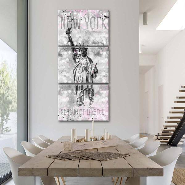 """Statue Of Liberty Dream"" Multi Panel Canvas Wall Art - LINK ElephantStock"