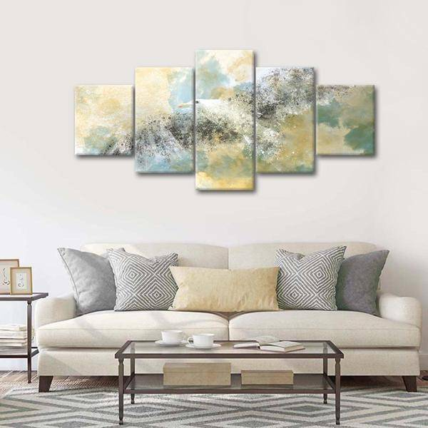 """Vanishing Seagull"" Multi Panel Canvas Wall Art - LINK ElephantStock"