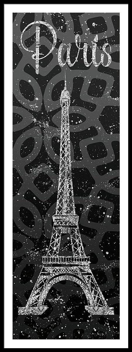 Link to Fine Art America - Graphic Art PARIS Eiffel Tower - Silver and Grey