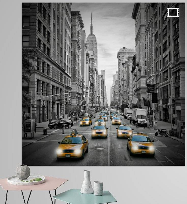 """5th Avenue NYC Verkehr"" - LINK - OhMyPrints Onlineshop"
