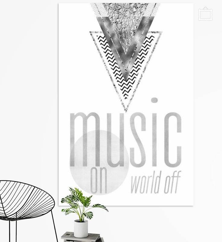 "Link - OhMyPrints - ""GRAPHIC ART Music on - World off 