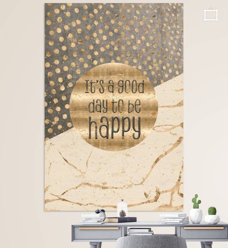 "Link - OhMyPrints - ""GRAPHIC ART It is a good day to be happy"""