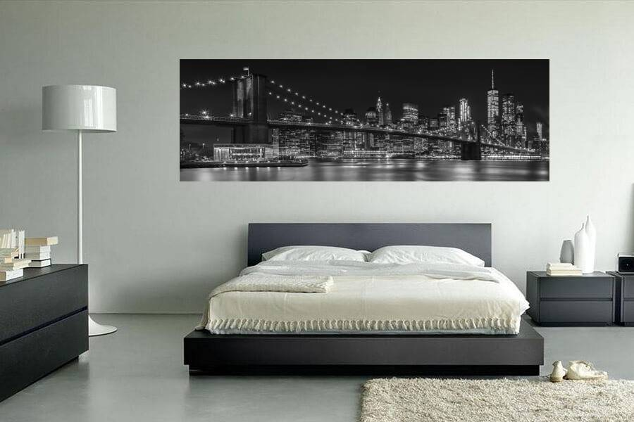 MANHATTAN SKYLINE & BROOKLYN BRIDGE Impressionen bei Nacht - OhMyPrints Onlineshop