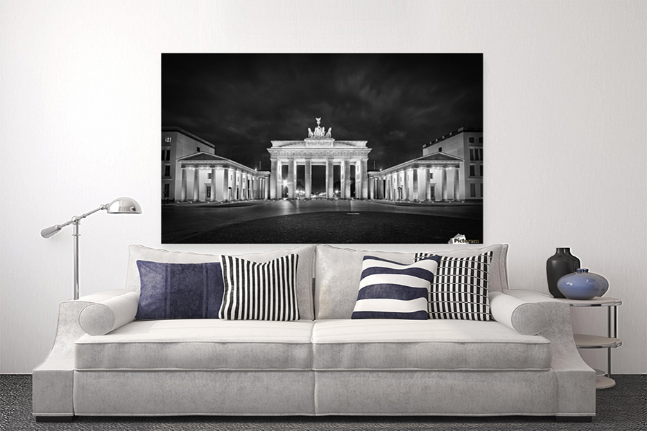BERLIN Brandenburg Gate | Monochrome - Link to PICTOREM