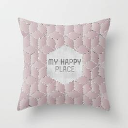 "Link SOCIETY6 Throw Pillow ""GRAPHIC ART My happy place"""