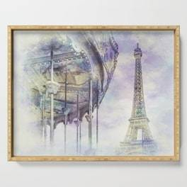 "LINK - SOCIETY6 Serving Tray ""Typical Paris 