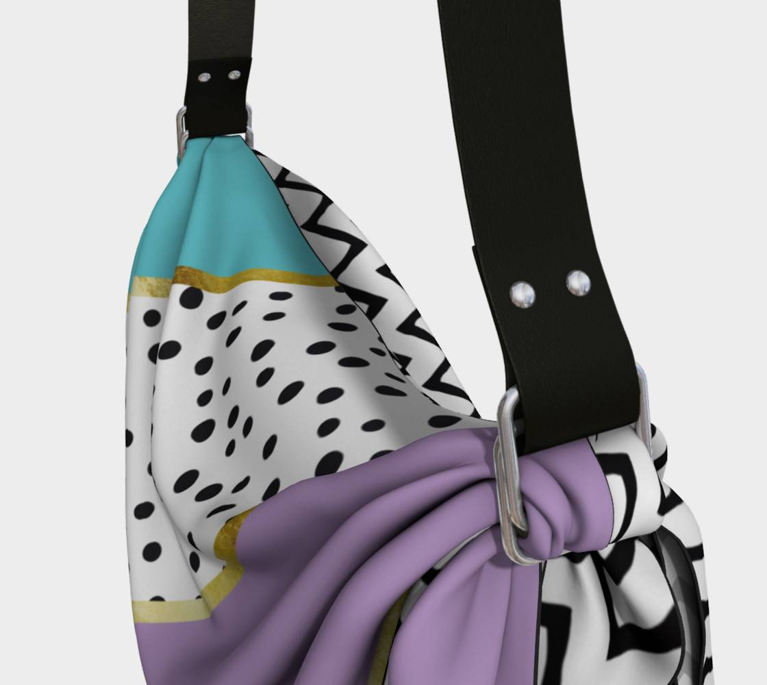 LINK - Origami Tote (Detail) Happy Abstract | purple cyan - ART OF WHERE