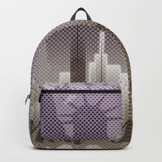 "LINK - SOCIETY6 Rucksack - ""Typographic Art NEW YORK Mix No 6"""