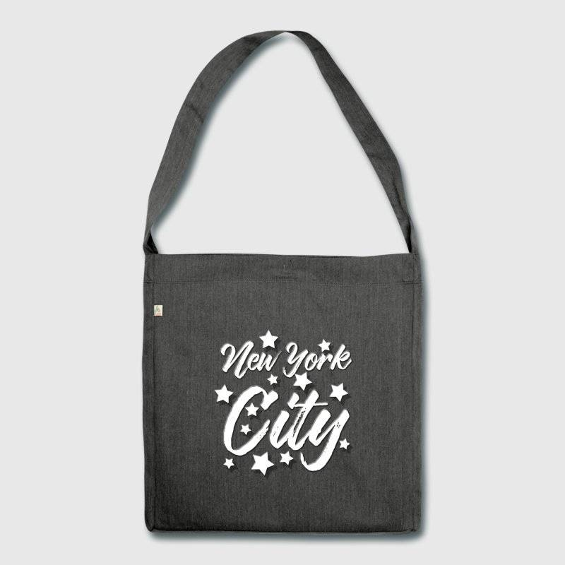 "LINK - SPREADSHIRT Schultertasche aus Recycling-Material - ""NEW YORK Design 