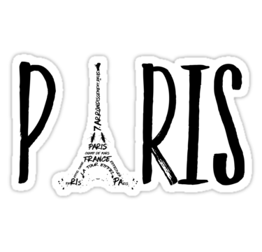 "LINK - Redbubble - Sticker - ""PARIS Typografie"""