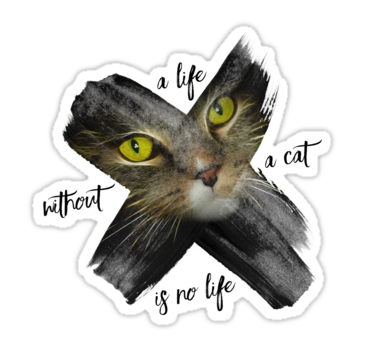 "LINK - Redbubble - Sticker - ""Graphic Art British Shorthair Cat"""