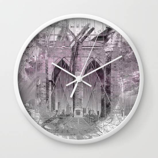 "Link SOCIETY6 ""City Art Brooklyn Bridge in Detail 