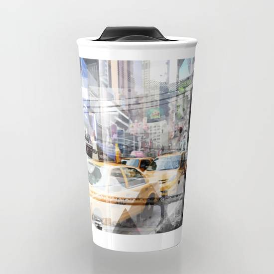 "LINK - SOCIETY6 Travel Mug ""New York City 