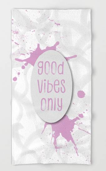 "LINK - Society6 - Towels ""TEXT ART Good vibes only 
