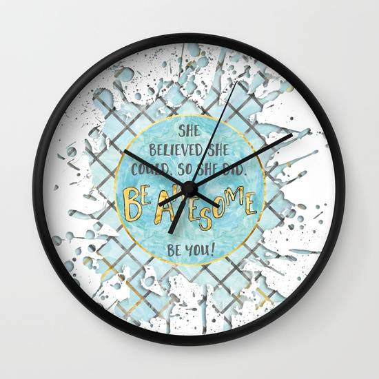 "Link SOCIETY6 ""Text Art SHE BELIEVED 