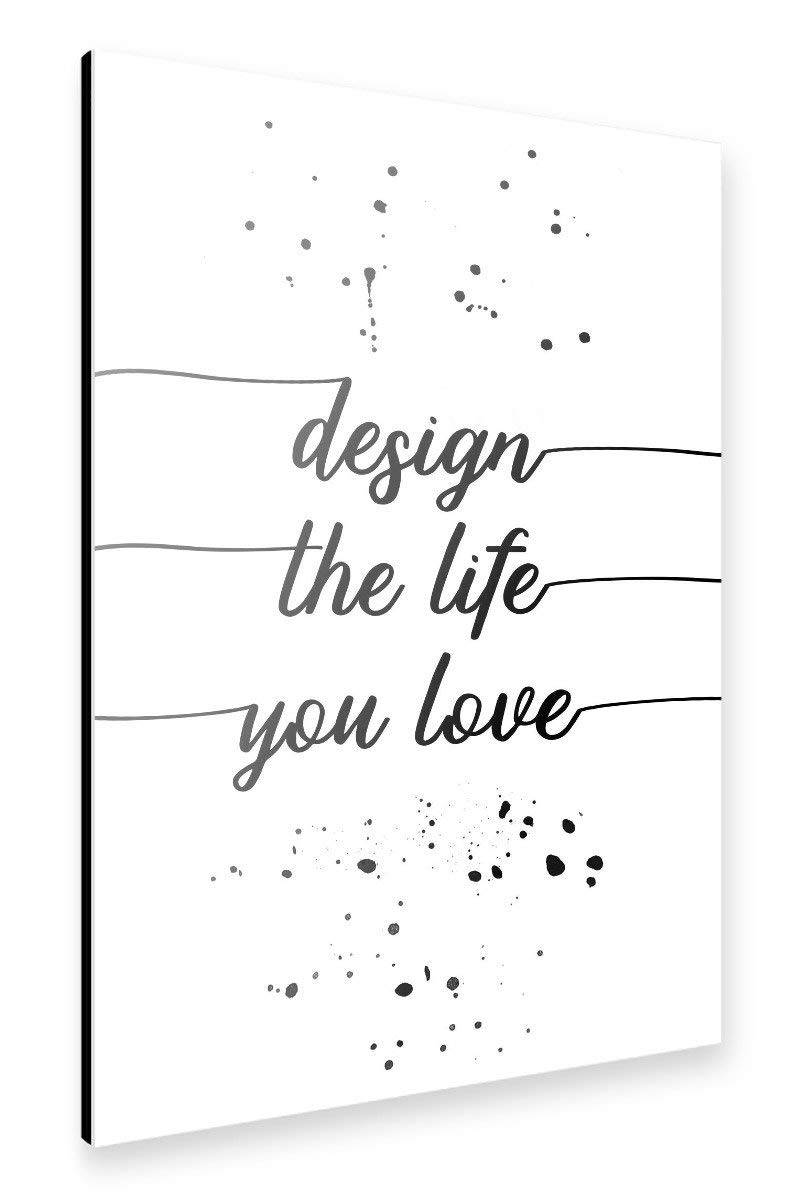 "artboxONE Alu-Print ""TEXT ART Design the life you love"" - Link Amazon"