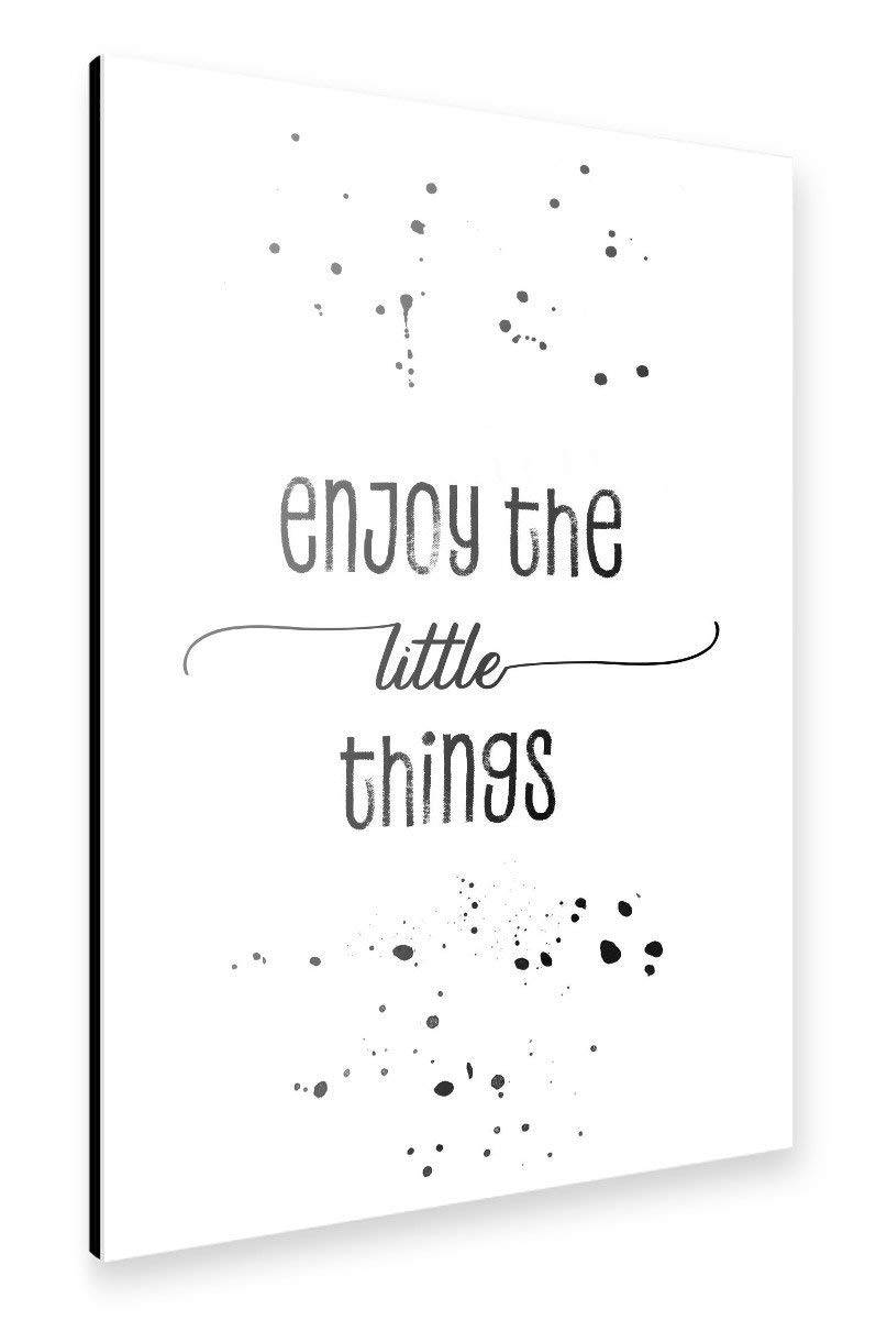 "artboxONE Alu-Print ""TEXT ART Enjoy the little things"" - Link Amazon"