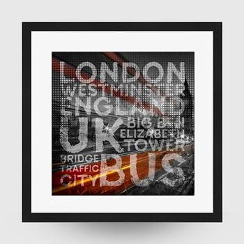Graphic Art LONDON Westminster Bridge Traffic - Link zum artboxONE Onlineshop